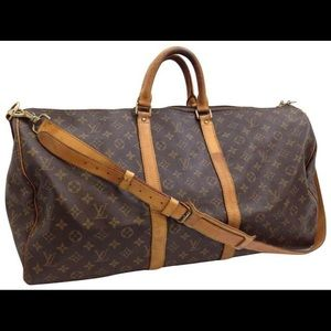 Louis Vuitton bandouliere 55 keepall with strap